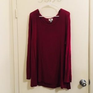 Old navy red long sleeve Sz XL